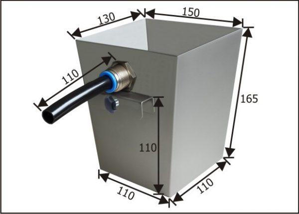 RUBI  Auffangbehälter für Ölskimmer